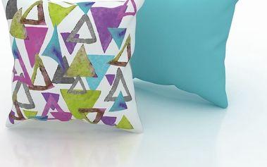 Sada 2 polštářů Triangles, 43x43 cm
