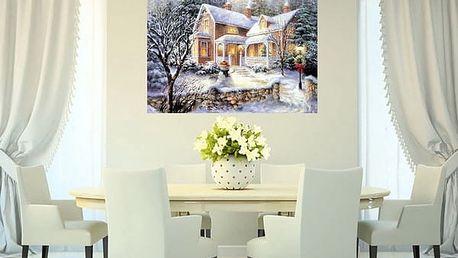 Sada pro výrobu vlastního vánočního obrazu - 40 x 30 cm - dodání do 2 dnů