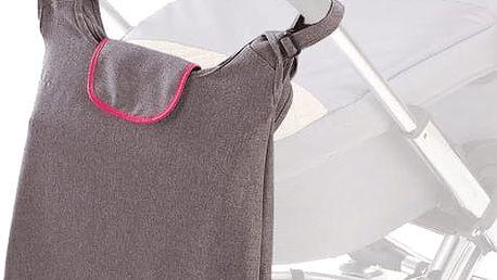 DIAGO Přebalovací taška Deluxe - šedá / růžová