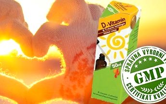 D vitamin kapky 50ml - výživový doplněk na POSÍLENÍ IMUNITY