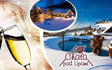 Oslavte příchod Nového roku ve velkém stylu - báječný silvestrovský pobyt na 3 až 5 dní v penzionu Chata pod lipami v Krkonoších, silvestrovské menu s přípitkem, silvestrovský večer s programem, občerstvením i půlnočním ohňostrojem. Navíc sauna apodlipsk