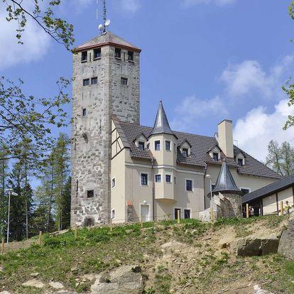Liberecká výšina se vstupenkami na horskou rozhlednu a polopenzí