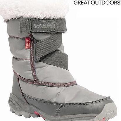 Dívčí zimní sněhule Regatta RKF389 SNOWCADET II DkSteel/Pop
