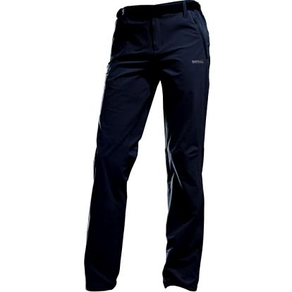 Pánské softshellové kalhoty Regatta RMJ103R XERT STRETCH Trs Ebony