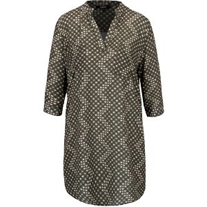 Khaki šaty se vzorem srdcí Alchymi Joya