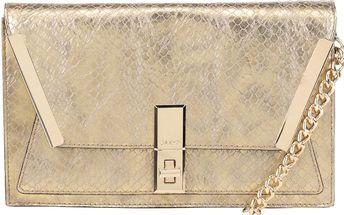 Lesklá crossbody kabelka ve zlaté barvě ALDO Ocelavia