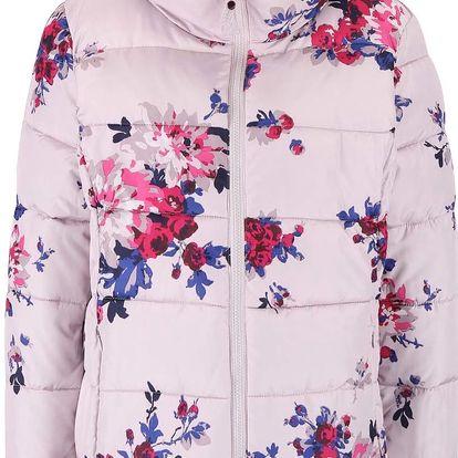Růžovo-šedá dámská prošívaná bunda Tom Joule Florian