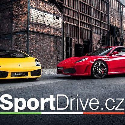 15–60minutová jízda ve Ferrari nebo Lamborghini na několika místech ČR