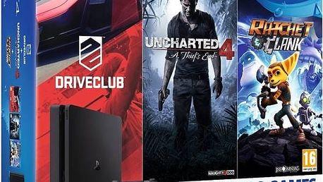 Herní konzole Sony PlayStation 4 SLIM 1TB Family pack (PS719805465 ) černá + Doprava zdarma