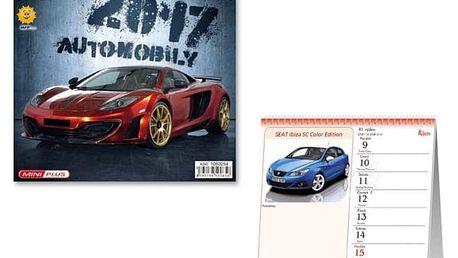 Mini kalendář 2017 - Automobily - dodání do 2 dnů