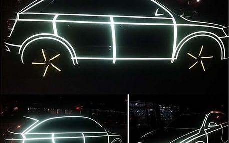 Reflexní samolepky na auto či kolo - bílá - dodání do 2 dnů