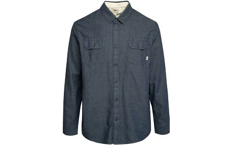 Šedomodrá pánská denimová košile Vans Alameda Stone