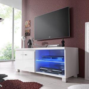 TV 1 - TV stolek (bílá/bílá)