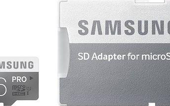 Samsung Micro SDHC PRO 16GB UHS-I U1 (90R/50W) + adapter (MB-MG16DA/EU)