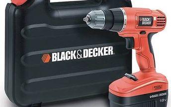 Aku vrtačka Black-Decker EPC18CAK + Sada bitů Black&Decker A7074 21dílná v hodnotě 152 Kč