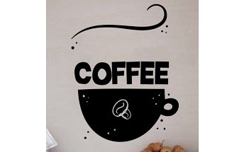 Samolepka na zeď - Káva