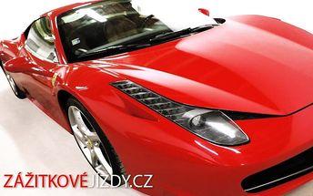 15–30minutová zážitková jízda ve Ferrari, Lamborghini nebo Porsche po celé ČR