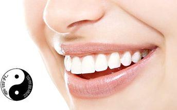 40minutové bělení zubů neperoxidovým gelem ve studiu Biorezonance-Masáže v Praze