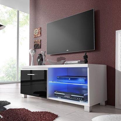 TV 1 - TV stolek (bílá/černá)
