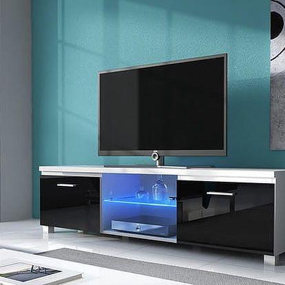 TV 2 - TV stolek (bílá/černá)