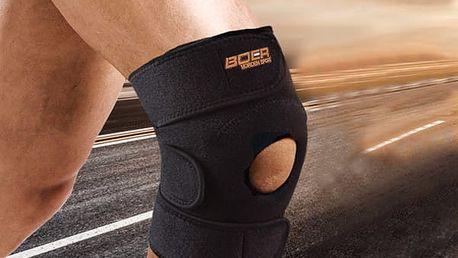 Nastavitelná ortéza na koleno v černé barvě