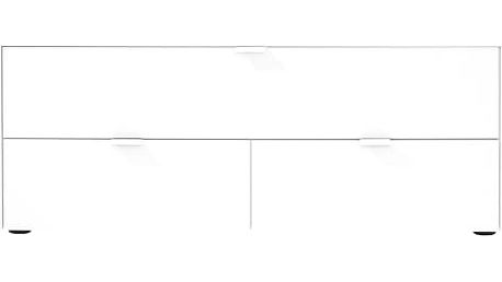 Chase - TV stolek 572745 (bílá, sklo bílé)