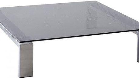 Besutto - konferenční stolek (dýmové sklo, chromové nožičky)