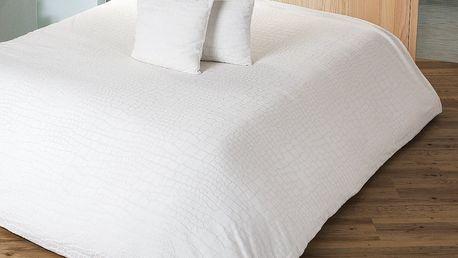 4Home Přehoz na postel Imperial krémová, 220 x 240 cm, 2x 40 x 40 cm