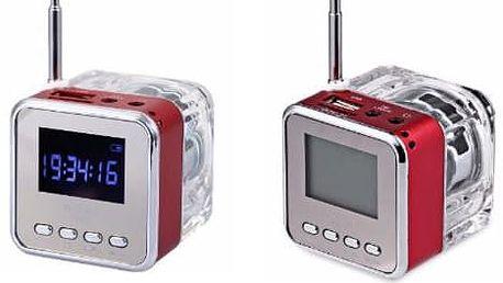 Přenosný stereo reproduktor s LED podsvícením