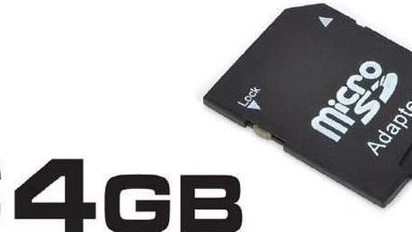 Kvalitní a rychlá paměťová karta micro SD 64GB + adaptér zdarma včetně poštovného