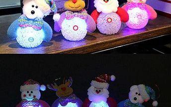 LED vánoční dekorace - méďa, santa, sob, sněhulák