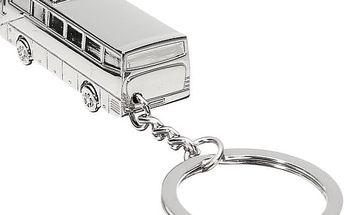 Stříbrná klíčenka ve tvaru autobusu