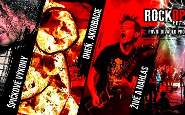 Vstupenky na představení do RockOpery