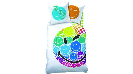 CTI povlečení Smiley smajlíci Rainbow 140x200,70x90
