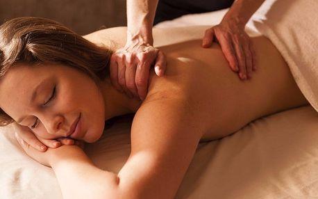 50minutová relaxační masáž zad a šíje