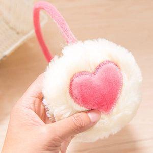 Plyšové klapky na uši se srdcem - 5 barev