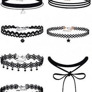 Gotické choker náhrdelníky - 10 kusů