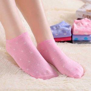 Kotníkové ponožky se srdíčky pro ženy - 5 párů