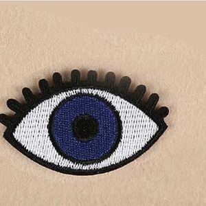 Nášivka na oblečení - Modré oko - 6 kusů
