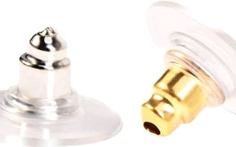 100 párů náušnicových zarážek - Zlatá a stříbrná barva