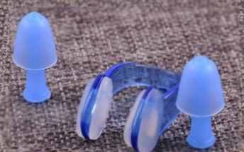 Sada pro potápění - špunty do uší a klip na nos
