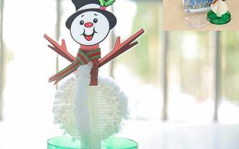 Kouzelný rostoucí sněhulák - ozdoba z papíru