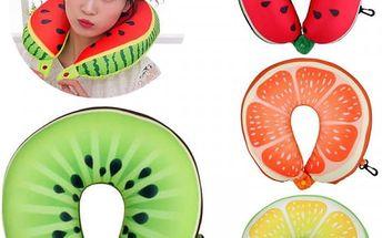 Polštář za krk v podobě ovoce - 4 druhy