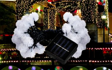 Solární LED vánoční řetěz - pampelišky