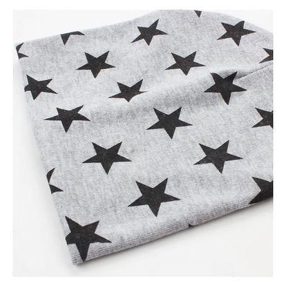 Roztomilá čepice pro děti s hvězdičkami