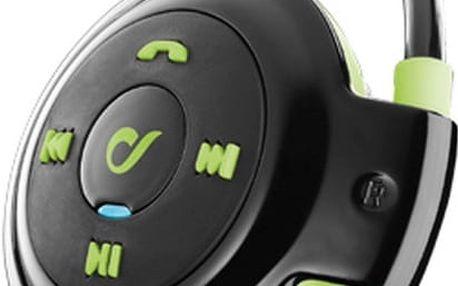 CellularLine Scorpion sportovní ergonomická sluchátka, BT, černo-zelená - BTSCORPON