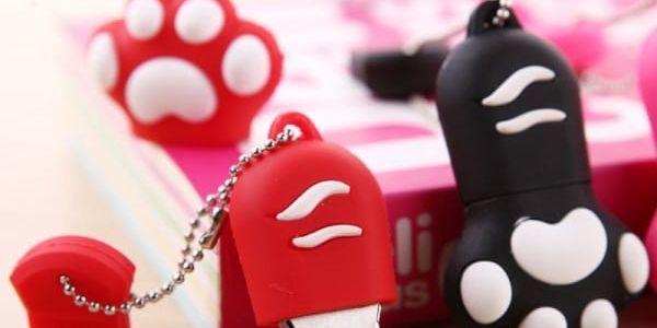 Roztomilý USB flash disk v podobě tlapky