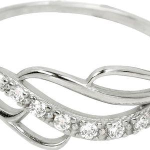 Brilio Prsten z bílého zlata s krystaly 229 001 00624 07 55 mm