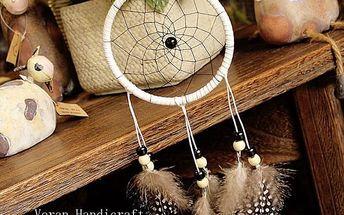 Indiánský lapač snů v bílé barvě