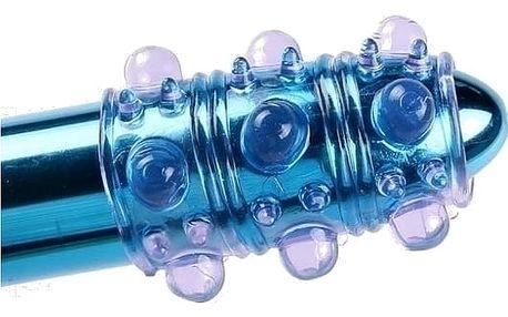 Průhledný návlek na penis BUBBLE plný bublinkových výstupků pro společnou rozkoš a delší erekci